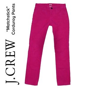 "J. Crew Pants - EUC J. CREW Corduroy skinny Pants ""Matchstick"""